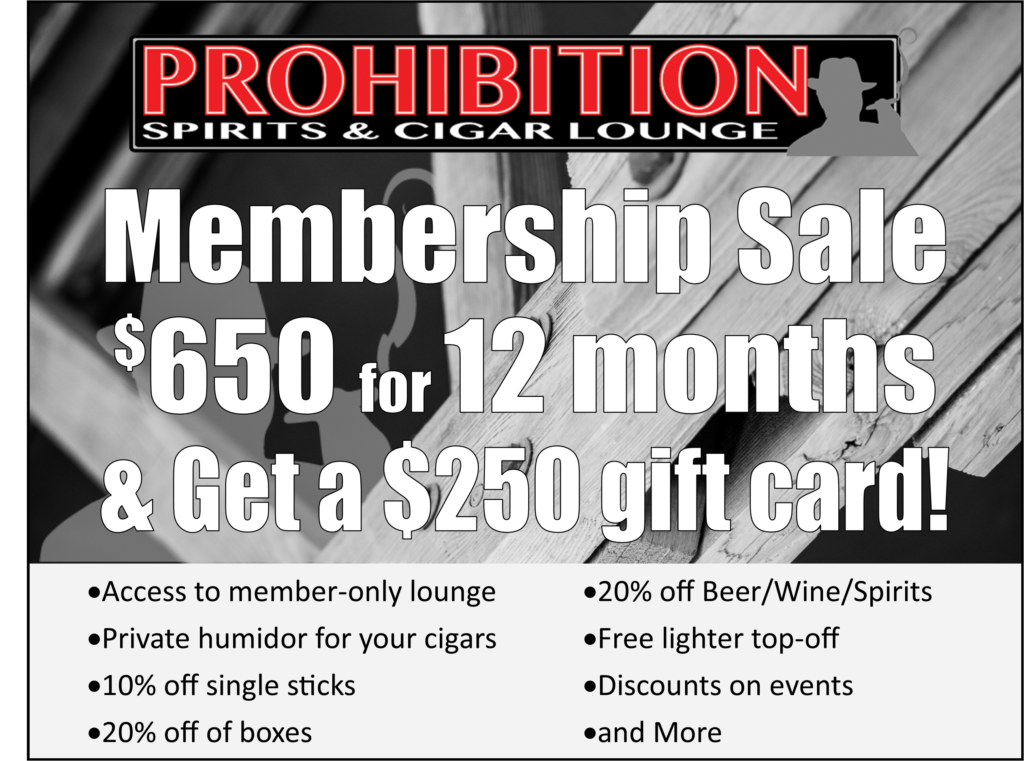 Cigar Lounge Membership sale